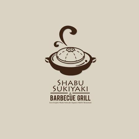 shabu sukiyaki and grill sign symbol logo icon food restaurant