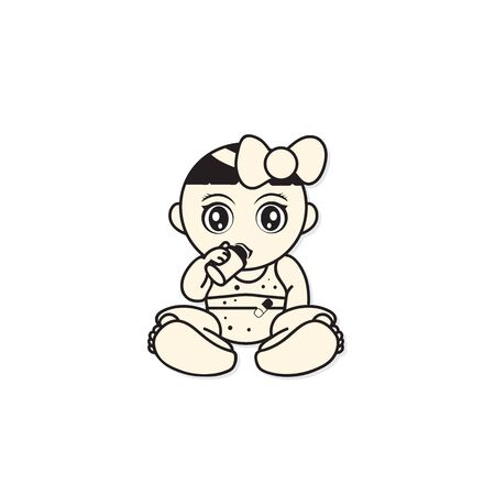 baby children cartoon characters graphic