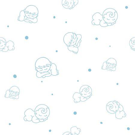 baby pattern cartoon graphic sleep