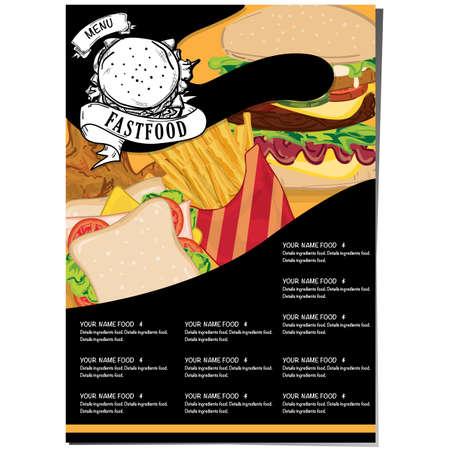 menu food restaurant template design hand drawing graphic. 矢量图像