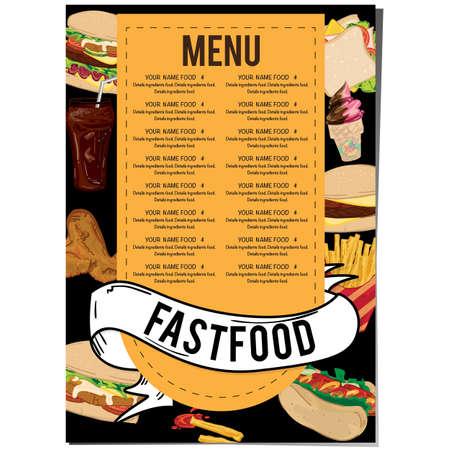 menu fastfood restaurant template design