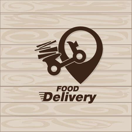 food delivery icon vector graphic element sign logo Logo