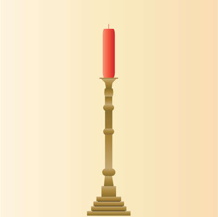 candle holder: candle stick