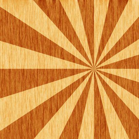 woodgrain starburst pattern Stock Photo