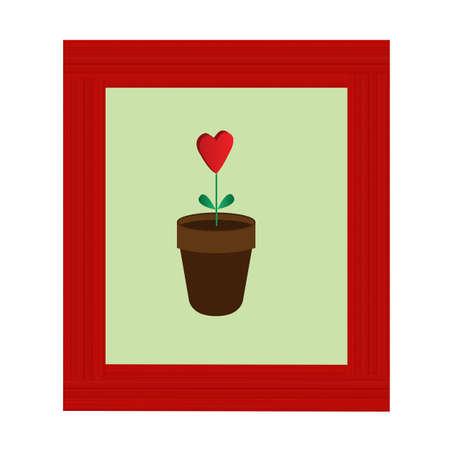 heart shaped flower