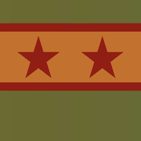 two red stars on a green background
