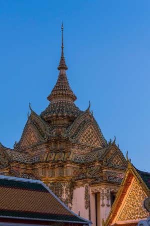 Wat Pho, Temple of the Reclining Buddha in Bangkok, Thailand, Asia Stock Photo