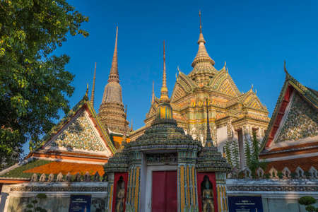 Wat Pho, Temple of the Reclining Buddha in Bangkok, Thailand, Asia Stock Photo