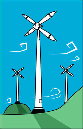 windy energy: Wind turbines