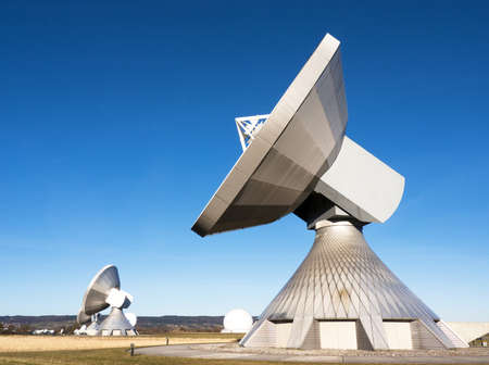 radio telescope: radio telescope - near berlin  germany