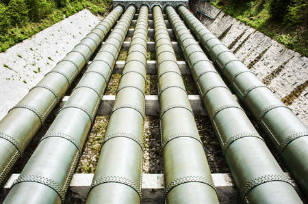 pipelines at a reservoir in austria photo