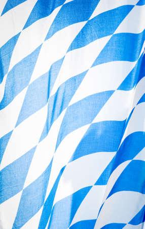 close-up von einem bayerischen Flagge - schönen Hintergrund Muster