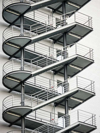 fire escape at an office building - rome