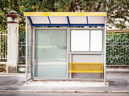 modern bus stop in italy  caorle  photo