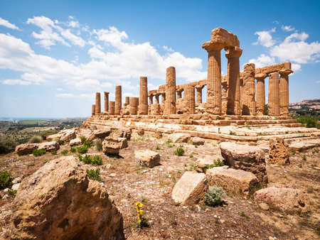 famous temple at agrigento - sicily - italy - valley of the temples photo