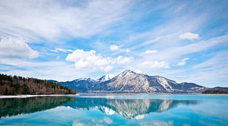 Walchensee near the bavarian alps in germany photo