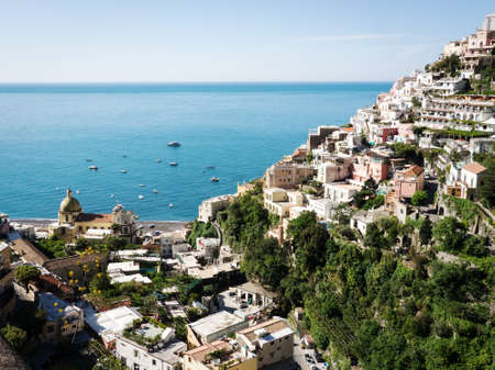 italy culture: typical old town at the amalfi coast - italy