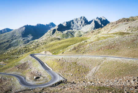 winding road at the european alps - austria photo
