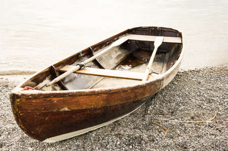 old rowboat photo