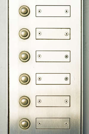 bell button - close up  - with space for text Stock Photo