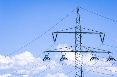 electricity pylon near rome Stock Photo - 17077871