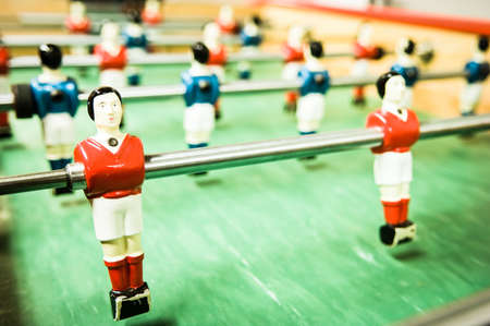 part of an old table soccer game - nice close-up Stock Photo