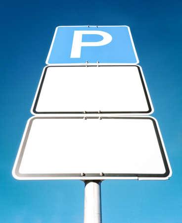 se�al parking: aparcamiento signo