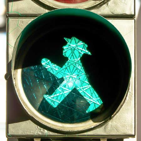 dont walk: east german traffic light - gdr