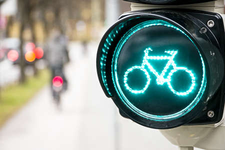 traffic light for bikes  in germany Stock Photo