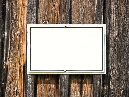 blank sign at a wall - nice background with space for text Stock Photo - 17079552