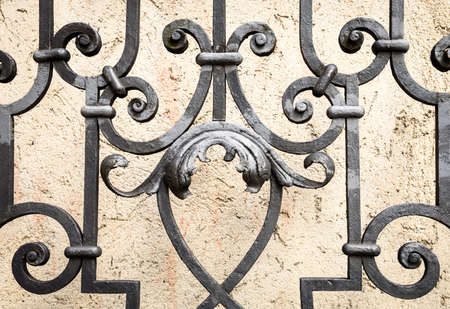iron gate: part of an old fence - close-up