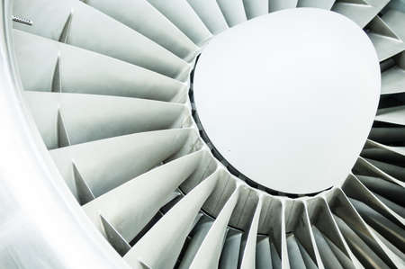 modern turbine at a plane photo