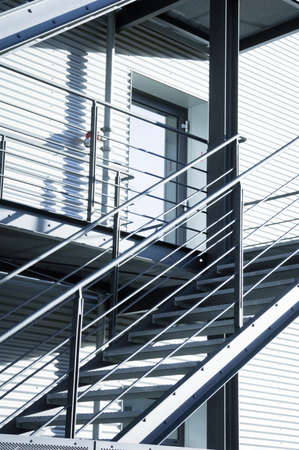 modern fire escape and staircase Stock Photo - 17178754