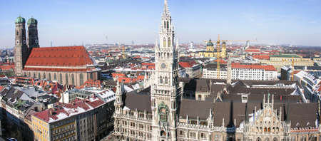 famous munich marienplatz - germany - bavaria photo