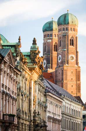 frauenkirche: famous munich marienplatz - germany - bavaria Stock Photo