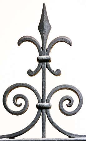 puertas de hierro: las secciones de cercas viejo - close-up