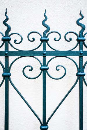 metaal: deel van een oude hek - close-up