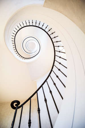 spiral staircase: beautiful spiral staircase at a villa
