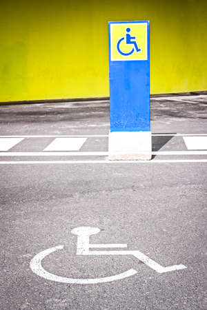 disabled parking sign: disabled parking sign - outdoors - photo