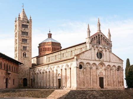 massa: beautiful old church at massa marittima in italy Stock Photo