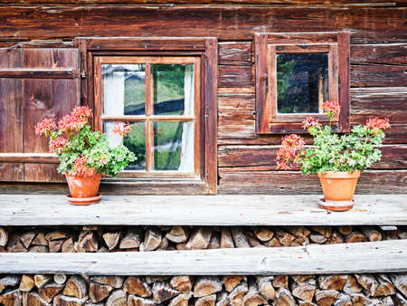 window at a typical old bavarian farmhouse Stock Photo - 17274137