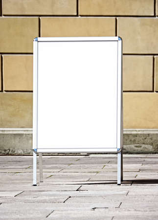 blank white board at a sidewalk Stock Photo - 17274389