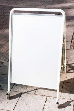 blank white board at a sidewalk Stock Photo - 17274169