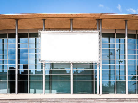 blank billboard at a modern building - nice background with space for text Stock Photo - 17274159