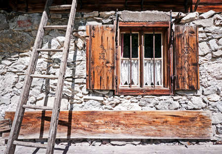 window at a typical old bavarian farmhouse Stock Photo - 17274149