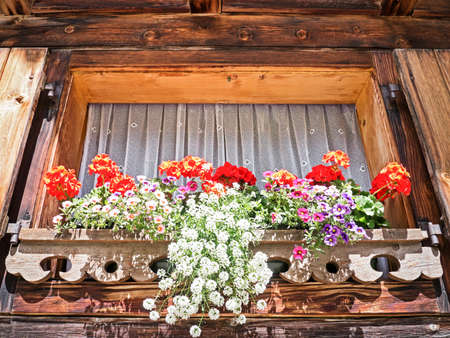 window at a typical old bavarian farmhouse Stock Photo - 17273753