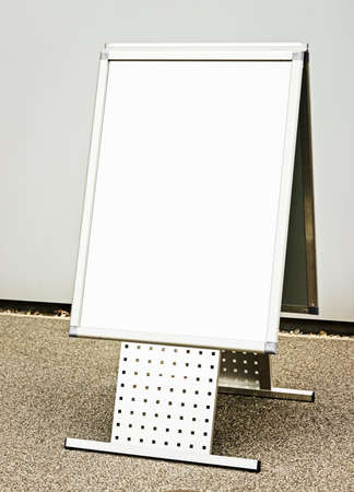 blank white board at a sidewalk Stock Photo - 17325620