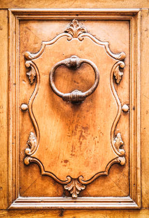 doorknocker at a front door photo