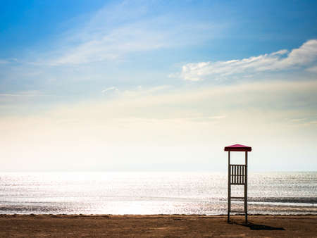 lookout tower at a beach Stock Photo - 17365260