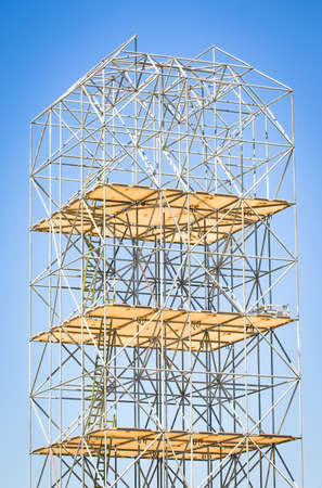 modern scaffolding at a construction site Stock Photo - 17365381